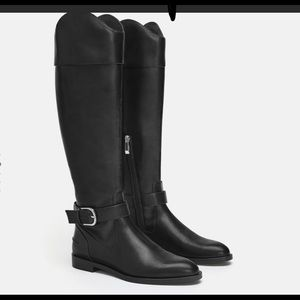 Zara riding boots black